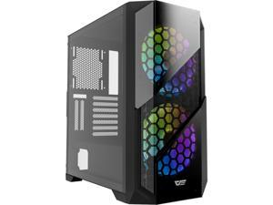 darkFlash BF5 ATX Mid Tower Gaming Tempered Glass PC Computer Case Iron Mesh Front Panel with 2 x 200 mm Case Fans