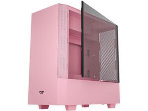 darkFlash V22 Pink Mid Tower Computer Case ATX Micro ATX Mini ITX M-ATX with Magnetic Design Wide Open Door Opening Swing Type Tempered Glass Side Panel w/ Vertical Graphics Card Installation