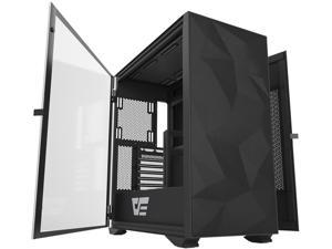 darkFlash DLX21 Mesh E-ATX/ATX/Micro ATX/Mini ATX Black Computer Case with Two Door Opening, Tempered Glass Side Panel & Mesh Front Panel Support 360mm Radiator w/ Type-C Port