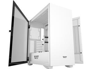 darkFlash DLX22 E-ATX/ATX/Micro ATX/Mini ATX White Computer Case with Two Door Opening, Tempered Glass Side Panel Support 360mm Radiator w/ Type-C Port