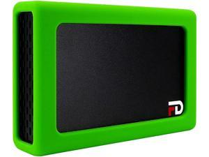 Fantom Drives FD DUO Mobile 2 Bay RAID Aluminum Enclosure Silicone Green Bumper Add-On DMR000ERG