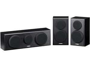 Yamaha NS-P150 Center and Two Surround Speakers Package HD Movie - Piano Black