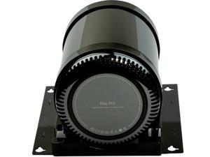 Rocstor Y100DM-01 Rocmount Prom Dm Desk Mount Mac Pro Desk/Wall/Pedestal Bracket - Galvanized Steel, Rubber - High Gloss Black