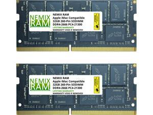 "64GB (2 x 32GB) DDR4-2666MHz PC4-21300 SO-DIMM Memory for Apple 27"" iMac with Retina 5K Display Mid 2020 (iMac 20,1 iMac 20,2) by NEMIX RAM"