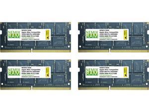 "128GB (4 x 32GB) DDR4-2666MHz PC4-21300 SO-DIMM Memory for Apple 27"" iMac with Retina 5K Display Mid 2020 (iMac 20,1 iMac 20,2) by NEMIX RAM"