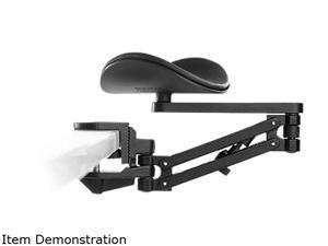 ErgoRest Forearm Support, Long Upper Arm (Black), Standard Arm Pad (Black)