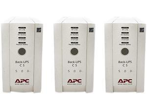 APC Back-UPS 500 (BK500) - 2 Year Warranty Included - Qty 3