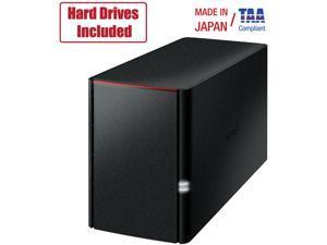 Buffalo LinkStation SoHo 2Bay Desktop 8TB Hard Drives included LS220D0802B