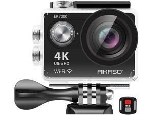 AKASO EK7000 4K WIFI Sports Action Camera Ultra HD Waterproof DV Camcorder 12 MP 170 Degree Wide Angle 2 inch LCD Screen/ 2.4G Remote Control/ 2 Rechargeable Batteries/ 19 Mounting Kits