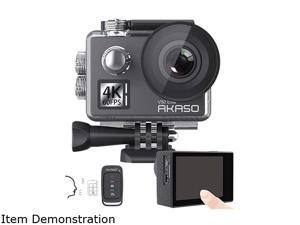 AKASO V50 Elite 4K60fps Touch Screen WiFi Action Camera Voice Control EIS 131' Waterproof Camera Adjustable View Angle 8X Zoom Remote Control Sports Camera with Helmet Accessories Kit