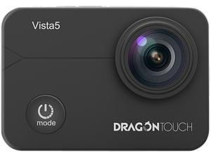 Dragon Touch Vista 5 Action Camera Native 4K 20MP Ultra HD Touch Screen EIS 4X Zoom Remote Control WiFi Waterproof Support External Mic 2x 1350mAh Batteries and Mounting Accessories Kit