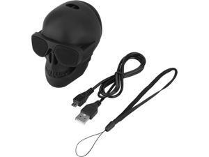 New Skull Head Speaker Portable Mini Wireless Bluetooth Stereo Speaker HD sound Unique Enhanced Bass