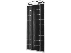 Renogy 100W 12V Monocrystalline Flexible Solar Panel For Boat Car RV Caravan Home, Ultra Lightweight Ultra Thin