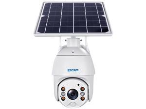 ESCAM QF280 1080P Cloud Storage PT WIFI Battery PIR Alarm IP Camera With Solar Panel Full Color Night Vision Two Way IP66 Waterproof Audio Camera