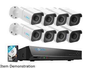 Reolink 4K 16CH PoE CCTV Camera Systems, 8pcs 8MP Outdoor PoE Security IP Cameras, 4K 16CH NVR w/ 3TB HDD, 24/7 Surveillance Recording Audio, RLK16-800B8