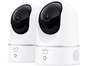 eufy Security, 2K Indoor Cam Pan & Tilt 2-Cam Kit, Security Indoor Camera with Wi-Fi, IP Camera, Human & Pet AI, Voice Assistant Compatibility, Motion Tracking, HomeBase Not Required.