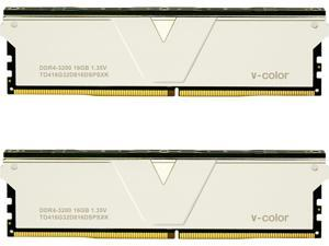 V-color Skywalker Plus 32GB (2x16GB) DDR4 3200MHz (PC4-25600) SK Hynix IC Gaming Memory Model TO416G32D816DSPSXK