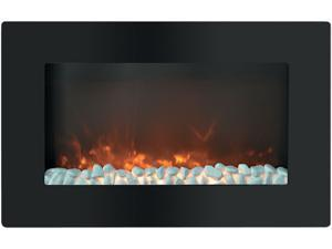 Cambridge Callisto CAM30WMEF-1BLK 30 In. Wall-Mount Electronic Fireplace with Flat Panel and Crystal