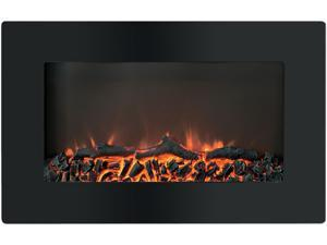 Cambridge Callisto CAM30WMEF-2BLK 30 In. Wall-Mount Electronic Fireplace with Flat-Panel and Realist