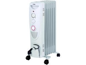 OPTIMUS H6013  H6013 WHITE 7 FIN OIL FILLED RADIATOR HEATER  and  TIMER