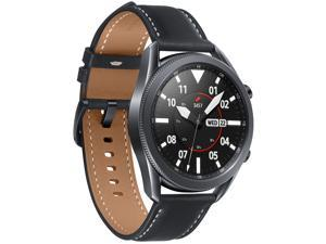 Samsung Galaxy Watch 3 (45mm, GPS, Bluetooth) Smart Watch with Advanced Health monitoring, Fitness Tracking, and Long lasting Battery - Mystic Black