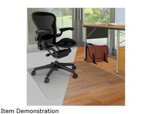 "Deflecto DouMat Mat Carpet/Hard Floor 46""x60"" Clear CM23442FDUO"