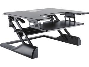TygerClaw TYDS14013 Sit-Stand Desktop Workstation Stand (Black)