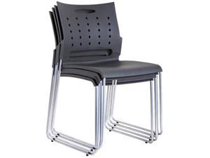 TygerClaw Mid Back Plastic Chair - 4 PCS/Pack (TYFC2327)