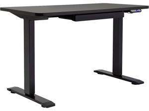 "Motionwise SDG48B Electric Height Adjustable Desk, Home Office Style 24"" x 48"", Black"