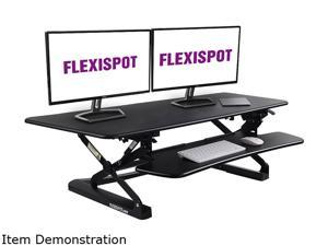 "FlexiSpot Standing Desk Riser Height Adjustable Computer Laptop Converter 47"" Width Platform with Removable Keyboard Tray"