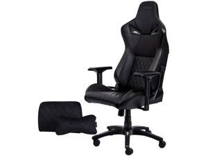KARNOX Legend TR Racing Style Gaming Office Chair with Adjustable Height and Arm Rests, Ergonomic 155° Reclining, Locking High Back with Integrated Headrest (Black)