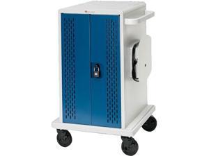 Bretford - CORE36MS-CTTZ - Bretford Core 36M - Lockable Handle - 5 Caster Size - Steel - x 25.3 Width x 26.5 Depth x 41.4 Height - Concrete, Topaz - For 36 Devices - 1 Carton