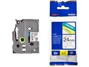 Brother Label Tape Cartridge,  Label Type Indoor/Outdoor Black/Clear  PET TZe151