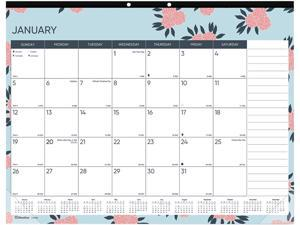 Trendy Monthly Desk Pad, 22 x 17, Coral Flowers, 2021 C194127