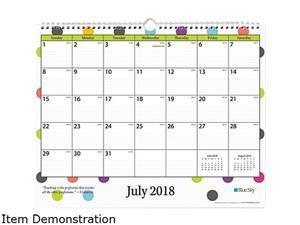 Blue Sky Teacher Dots Academic Year Wall Calendar 15 x 12 Asst Color Dots