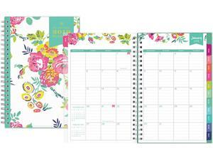 Day Designer CYO Weekly/Monthly Planner, 8 x 5, White/Floral, 2021 103619