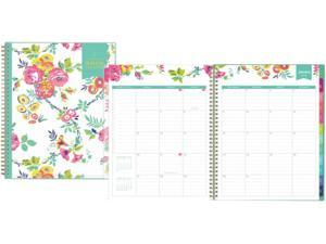 Day Designer CYO Weekly/Monthly Planner, 11 x 8.5, White/Floral, 2021 103618