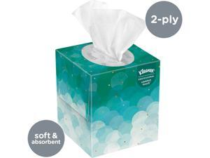 Kleenex Professional Facial Tissue Cube for Business (21270), Upright Face Tissue Box, 95 Tissues /Box
