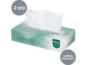 Kleenex Professional Naturals Facial Tissue for Business (21601), Flat Face Tissue Box, 2-PLY, 48 Boxes / Case, 125 Soft Sheets / Box, 6,000 Sheets / Case