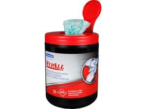 WypAll Waterless Industrial Cleaning Wipes (58310), Heavy Duty Moist Wipers, 1 Portable Canister of 50 Sheets