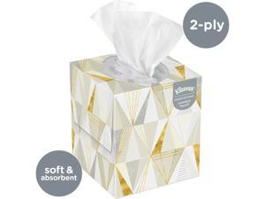 Kleenex Professional Facial Tissue Cube for Business (21200), Upright Face Tissue Box, 36 Floral Boxes / Case, 95 Tissues /Box, 3,420 Tissues / Case