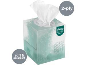 Kleenex Professional Naturals Boutique Facial Tissue Cube for Business (21272), Upright Face Tissue Box, 2-PLY, 6 Bundles / Case, 6 Boxes / Bundle, 36 Boxes / Case