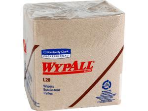 WypAll L20 Limited Use Towels (47000), Quarterfold Format, Tan / Natural, 2-Ply, 12 Packs / Case, 68 Sheets / Pack