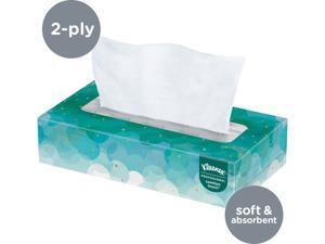 Kleenex Facial Tissue (21005), Flat Tissue Boxes, 100 Tissues / Box