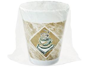 Dart 8X8GWRAP ThermoGlaze Café G Stock Printed Foam Cups, 8 Oz, Individually Wrapped - 1 Case (900 Cups)