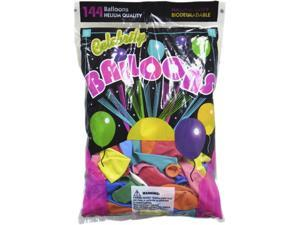 Tablemate 1200 Helium Quality Latex Balloons, 12 Assorted Colors, 144/Pack