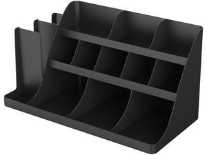 Mind Reader Extra Large Coffee Condiment and Accessory Organizer 24 x 11 4/5 x 12 1/2 Black