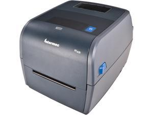 """Honeywell (Intermec) PC43t Thermal Transfer Label and Barcode Printer, 4"""", 203 Dpi, Icon Display, Tear-Off, USB 2.0, USB Host, Includes Latin Fonts, US Power Cord - PC43TB00000201"""