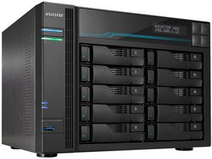 Asustor AS7110T | Lockerstor 10 Pro | Enterprise Network Attached Storage | 3.4GHz Quad-Core, One 10GbE Port, Three 2.5GbE Port, 8GB RAM DDR4 (10 Bay Diskless NAS)