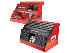 Powerbuilt 26 in. Rapid Box Portable Slant Front Toolbox - Red - 240311